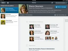 LinkedIn iPad App - Who has recently changed jobs in your network