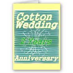 Second wedding anniversary ~ cotton cards