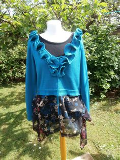 Upcycled Sweater Dress 'Shooting Star' UK size by StrangelyMagical