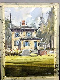 Iain Stewart  Meeker House. Sketching demo. Stillman & Birn Beta series