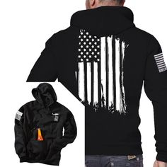 Tailgate Hoodie - America - Full Back - Nine Line Apparel