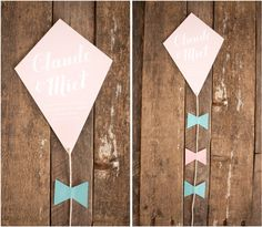 """Make a kite as part of our invitation and theme. """"Watch love soar"""""""