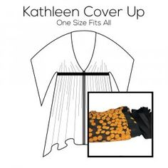 Kathleen Cover Up Pattern with Orange Fabric Kit Orange Fabric, Pattern Paper, Cover Up, Kit, Prints