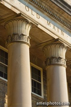 Columns of Old Main at Penn State