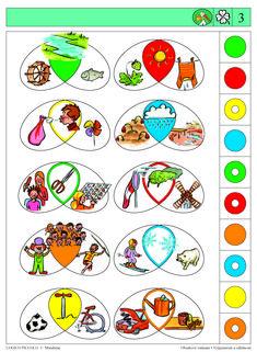 Vhodné pro děti od 5 let Soubor obsahuje 16 různých karet, vždy s 10 úkoly. Karta se zasune do rámečku a barevné knoflíky se přisouvají ke správné