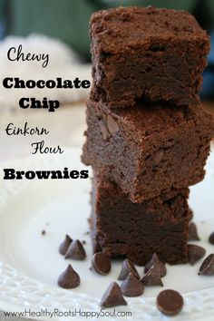 These einkorn brownies are SO delicious and are a much healthier treat.