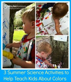 3 Summer Science Activities to Teach Your Kids About Colors on http://www.5minutesformom.com