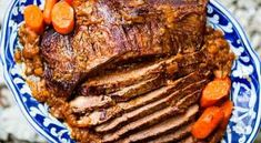 How to cook beef brisket pot roast style - slowly cooked with onions, garlic, herbs, and carrots. This EASY beef brisket recipe is a winner. Pot Roast Recipes, Beef Recipes, Cooking Recipes, Healthy Recipes, Cooking Time, Dinner Recipes, Roast Brisket, Roast Beef, Braised Brisket
