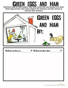 Green Eggs and Ham ~ {Writing Freebie}