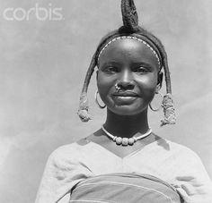 Sudan | Woman from Kouluge.  ca. 1950 | © Bettmann