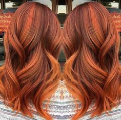 Pumpkin spice hair, copper hair color for auburn ombre brown amber balayage and blonde hairstyles Gorgeous Hair Color, Red Hair Color, Red Hair Orange Highlights, Copper Hair Colors, Fall Hair, Red Hair For Fall, Autum Hair, Fall Winter Hair Color, Winter Nails