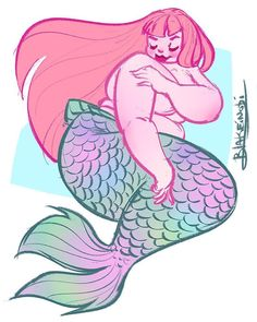 Plus Size Art Spotlight: Mermaids and Fairies with BlakeInobi http://thecurvyfashionista.com/2016/09/plus-size-art-mermaids-fairies-blake-inobi/