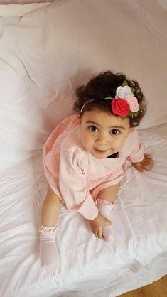 Vendeur Britannique Bébé Fille Bow Hairband Doux élastique Bandeaux nouveau-né 2yr Rose Blanc