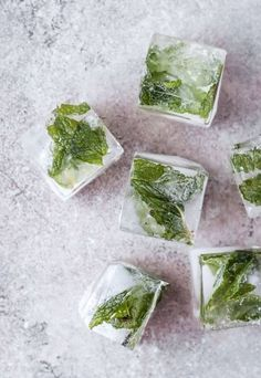Instead of typical ice cubes, freeze mint, cucumber, lemon, or lavender inside. Guests will be super impressed!