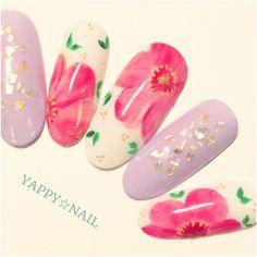 #nail#nailart#naildesign#ジェル#ジェルネイル#gelnail#gelart#ネイルアート#ネイル#ネイルデザイン#yappynail#flower#フラワー#春#Spring#samplenail