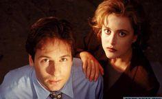 David Duhovny and Gillian Anderson
