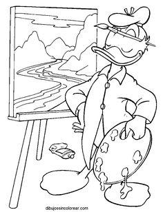 Dibujos Sin Colorear: Dibujos del Pato Donald para Colorear