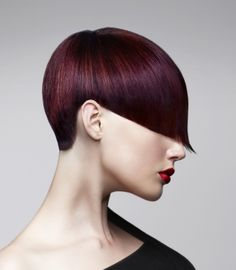 A short black straight coloured Multi-Tonal hairstyle by Room: 97