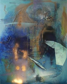 Original art for sale at UGallery.com | At Sea between Fossils and Satellites 11 by Melisa Taylor | mixed media artwork | 60' h x 48' w