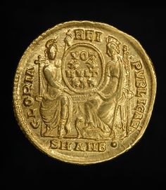 stunning, solid gold Ancient Roman solidus of the Emperor