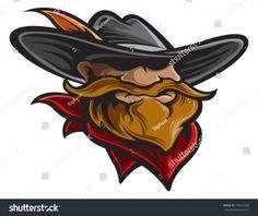 Cowboy Cowboy Art, Royalty Free Stock Photos, Lei, Illustration, Sketch, Hats, Game Logo, Printable Art, Vectors