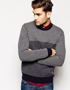 French Connection Jumper With Ao Mini Geo Jacquard