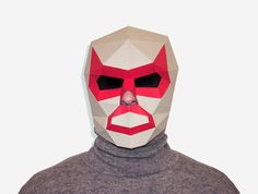 Luchador Mask DIY printable Lucha Libre by AwesomePatterns on Etsy
