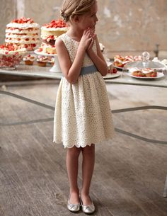 Great for Flower Girls! Broderie Party Dress by Mini Boden