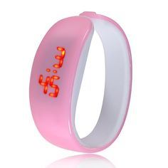 Đồng hồ LED vòng tay Nhựa Silicon thời trang kiểu mới - Hồng