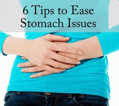 Tips to help you ease stomach issues due to stress, indigestion or food intolerances, these quick tips can help you to relieve some of your stomach issues quickly #stomachache #indigestion #bloating