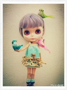 Vestido de crochet para Blythe  2 calentadores por Blytheofmine, €20.00