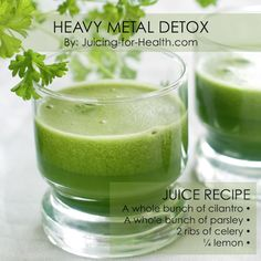 Heavy Metal Detox With Cilantro And Parsley Juice For 14 Days