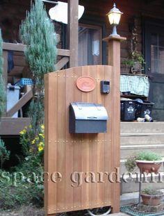 施工例画像:門柱木製 リフォーム 柏市