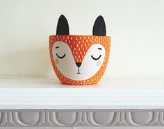 Fox Plant Pot - Small Ceramic Planter - Modern Planter
