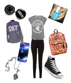 """back to school"" by anaf02216 ❤ liked on Polyvore featuring Converse, JanSport and Essie"