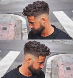 Burst fade with low drop tunsoare in 2019 мужские стрижки, с Mens Hairstyles With Beard, Cool Hairstyles For Men, Haircuts For Men, Shag Hairstyles, Beard Styles For Men, Hair And Beard Styles, Short Hair Styles, Beard Haircut, Fade Haircut