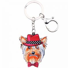 Multicolor Yorkshire Terrier Dog Key Ring. 🐶 Online shopping for Little Dogs Supplies with free worldwide shipping.🐶 Be sure you follow for daily pics & offers! 🐶 #dogs #dogsofinstagram #dog #puppy #puppies #cutedogs #doglovers #pets #dogclothes #funnydogs Yorshire Terrier, Dog Jewelry, Jewelry Sets, Yorkshire Terrier Dog, New Charmed, Mamas And Papas, Gadget Gifts, Little Dogs, Dog Supplies