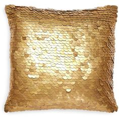 """Jonathan Adler Talitha Metallic Discs Decorative Pillow, 12"""" x 12"""" ($255) ❤ liked on Polyvore featuring home, home decor, throw pillows, pillow, filler, interior, metallic gold, gold home accessories, jonathan adler home decor and gold accent pillows"""