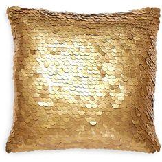 "Jonathan Adler Talitha Metallic Discs Decorative Pillow, 12"" x 12"" (350 CAD) ❤ liked on Polyvore featuring home, home decor, throw pillows, filler, metallic gold, metallic throw pillows, jonathan adler throw pillows, gold throw pillows, metallic home decor and jonathan adler"