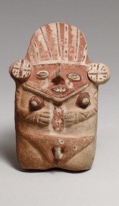 Female Figure  Date:     12th–14th century Geography:     Peru Culture:     Chancay Medium:     Ceramic Dimensions:     H. 7 in. (18 cm) Classification:     Ceramics-Sculpture