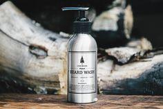 BEARD WASH: Natural Beard Wash Beard Shampoo by LONEWOODS on Etsy