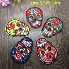 Look‼️ sugar skull day of the dead iron on patch‼️ Up for purchase is your pick of sugar skull patches this listing is for one patch only if you want more than one I will make a special listing just for you so let me know. These patches are great for putting on anything no sewing necessary Great for purses Jean's backpack shoes hats clothes whatever you can think of, turn something cheap into a piece of high fashion couture! Sugar skull Other