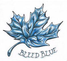 Bleed Blue by MitchBarberTattoos on DeviantArt I Tattoo, Cool Tattoos, Tatoos, Maple Leaf Tattoos, Tattoo Toronto, Autumn Tattoo, Maple Leafs Hockey, Tattoo Ideas, Tattoo Designs