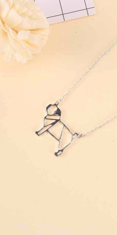 Absolutely adorbs pug necklace #dog #dogs #pug #pugs #doglover #puppy #puppies #cute #geometric #minimal #minimalist #gold #silver #necklace #jewelry