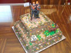 Bow Hunting Grooms Cake   Deer Hunting Theme Grooms Cake