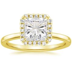 Moissanite Vienna Engagement Ring (1/4 ct. tw.) - 18K Yellow Gold