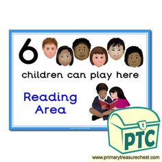 How Many Children... Reading Area Signs - Primary Treasure Chest Teaching Activities, Sensory Activities, Teaching Ideas, Activities For Kids, Eyfs Classroom, Classroom Rules, Ourselves Topic, Writing Area, A4 Poster