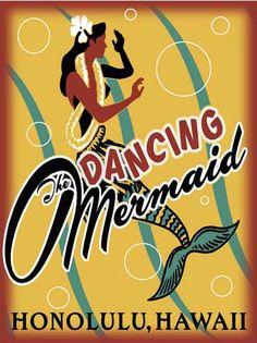 Dancing Mermaid ~ Honolulu, Hawaii