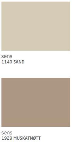 Sand og Muskatnøtt Jotun til soverom Black Dressers, Wood Beds, Natural Wood, New Homes, Colours, How To Plan, Inspiration, Cream, House