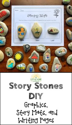 Story Stones are a prompt used to create and inspire stories! They provide endless possibilities for writing and storytelling and can be used in different ways. These are a great addition to any classroom!